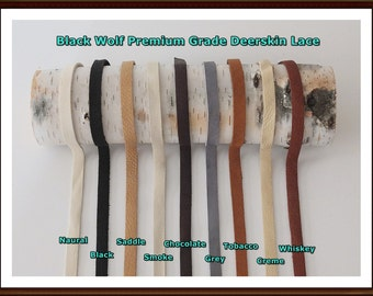Deerskin Leather Lace ( 10mm ) Premium Grade.  All Styles, Deerskin Lace, Deerskin Leather, Deerskin Hide, Deerskin, Leather, Crafts