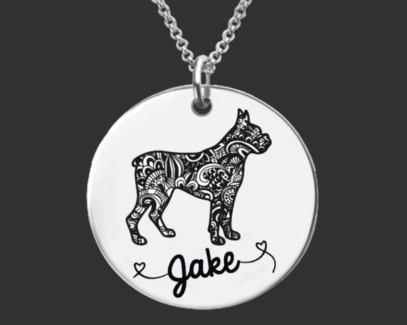 Boxer Necklace | Boxer Jewelry | Boxer | Personalized Dog Necklace | Personalized Gifts | Korena Loves