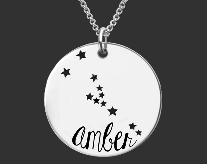 Taurus Zodiac Necklace | Taurus Constellation Necklace | Astrology Necklace | Personalized Gifts | Korena Loves