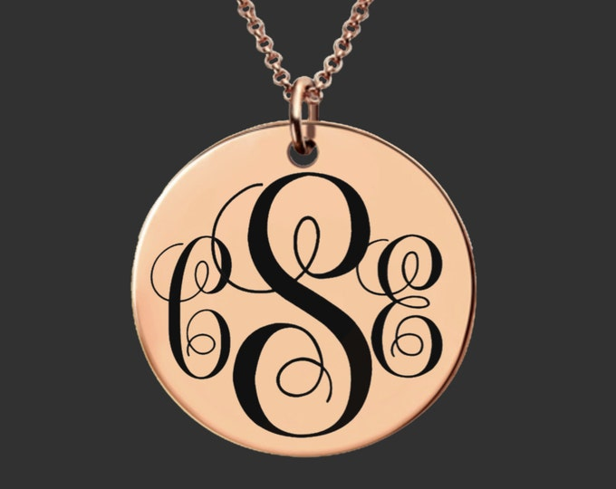 Monogram Necklace   Monogram Jewelry   Bridesmaid Gifts   Daughter Gift   Sister Gift  Personalized Gifts   Korena Loves