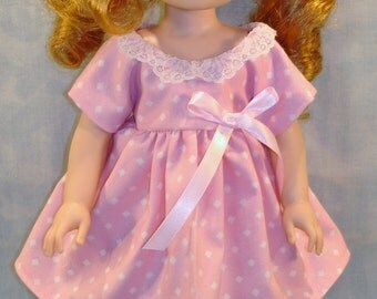 14 Inch Doll Clothes - Pink with Diamonds Dress handmade by Jane Ellen