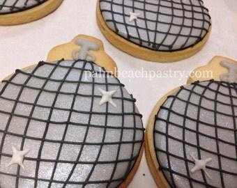 DISCO BALL Decorated Sugar Cookie favors 1 Dozen (12)