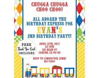 Train Birthday Invitation, Boys Train Invitation, Train Party Invite, Train Invitation, Train Birthday, Train Birthday Party