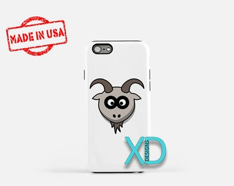 Cartoon Goat iPhone Case, Animal iPhone Case, Goat iPhone 8 Case, iPhone 6s Case, iPhone 7 Case, Phone Case, iPhone X Case, SE Case