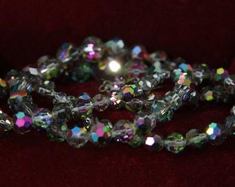 Laguna Necklace Aurora Borealis Two Strand Rainbow Sparkling Necklace