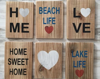 Where do you call home? Set of 2 signs