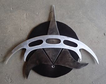 Hand Forged Klingon Wall Mount With Bat'leth.