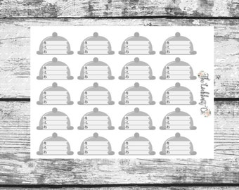 Breakfast Lunch Dinner Meal Planning Functional Planner Stickers