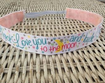 Love You To the Moon Headband - Girls Headband - No Slip Headband - Kids Headband - Adult Headband - Fashion Headband - Hair Accessories
