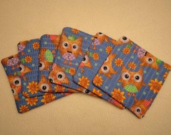Owl  Coasters - Owl Print  Coasters - Owl Drink Coasters - Owl Coasters - Owl Mug Rugs - Print Coasters - Coaster Set -Owl Print - Owls