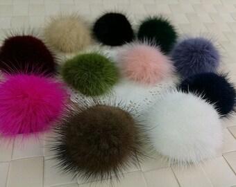 Semi-Circle Ball, 5cm, Fur Pom Pom, Furry Pom Pom, Small Fur Balls, Pom Pom, Fur Ball, Racoon Fur Pom Pom