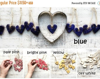 FLASH SALE 12 colors boho gift tags heart napkin holders place card tags wedding favors guest favors bridal shower bohemian wedding rustic w