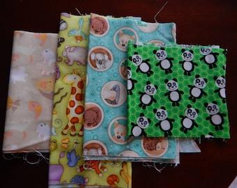 Destash Cotton Fabric - Animals