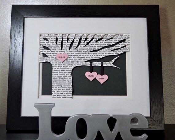 Unique First Wedding Anniversary Gifts: Unique First Anniversary Gift Personalized Wedding Gift I