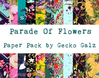 Parade of Flowers Digital Paper Pack