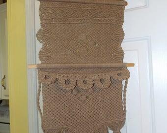 Macrame Handmade Hippie Hemp Letter Holder Home Decor