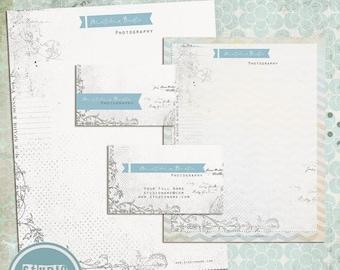 ON SALE Business Card, Letterhead Design Template , psd files - INSTANT Download