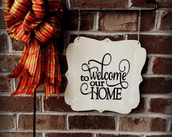 WELCOME GARDEN FLAG |  Welcome Sign | Garden Flags | Garden Signs | Home Decor | Mailbox Signs