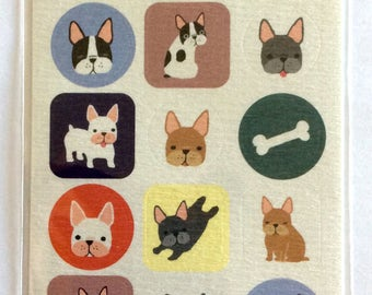 "CLEARANCE  From Amifa of Japan ""French Bulldog"" On Textured Paper"