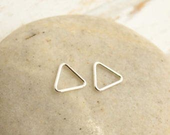 Tiny Sterling Silver Triangle Links -- 2 Pieces... HBS4419S