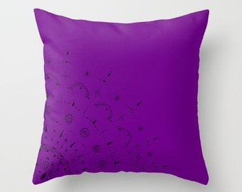 Purple Throw Pillow Cover