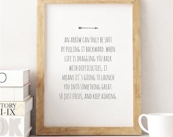 Arrow Quotes Life Impressive Quote With Arrow  Etsy