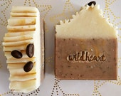 CAPPUCCINO Soap Bar - Vegan - Ethical - Handmade - Fragranced - Christmas Theme - Gift - Palm Free - Xmas - Coffee - Latte - Bean