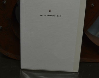 Mothers Day Heart Card A6 ONLY 2