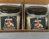 FIREWOOD DOUBLE PAK - Authentic Wood Burning Fireplace Candles 9.0 oz each