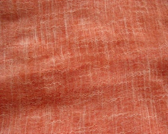 Peach Cotton Slub Gauze Fabric Sold by Yard