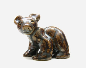 Bear Figurine | Ceramic stoneware glaze | contemporary modern