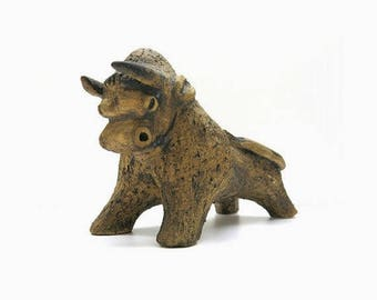 Stoneware bull / Mid Century Design - 60s/70s