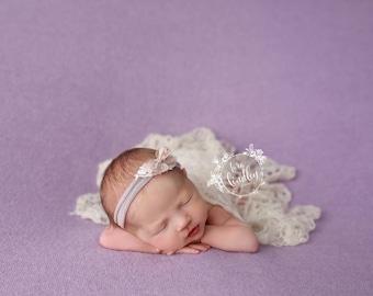 Newborn Photography Fabric Backdrop -  Ultra Soft Drew Knit Backdrop - Drew Lavender