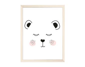 Art Print Tired Bear