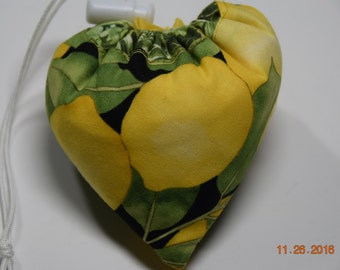 Shopping Bag, Market Bag, Reusable, Collapsable, Foldable, Citrus Lemon
