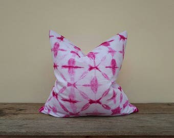"""Pink pillow cover, pillow cover,tie dye pillow cover 20"""" x 20"""""""