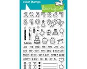 Lawn Fawn Clear Stamps - Plan On It- Birthdays