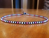 Pink Beaded Necklace Beaded Choker Necklace Pink Choker Black Choker Pastel Goth Choker Tween Jewelry Tween Girl Gifts for Girls Necklace