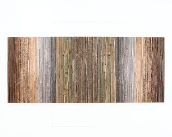 "Reclaimed wood wall art, Gradient artwork, 72""x30"" Large wall art, modern artwork"