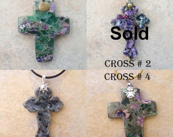 Stone Crosses All Hand Carved Individually Sold