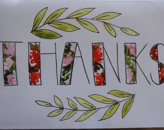Thank You Watercolor Stationery Set