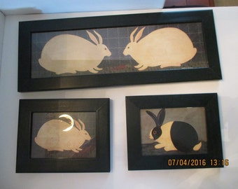 Warren Kimble Rabbit Prints (3)