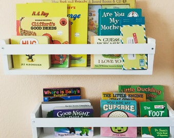 Set of 2 Kids Book Shelves - Shelving Organization - Home Decor - Playroom / Nursery