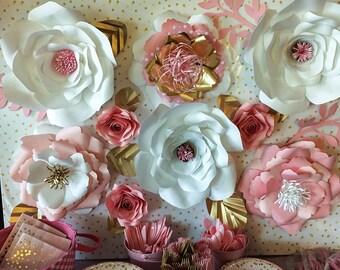 Nursery Paper Flower Wall Hanging