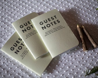Guest Notes // Mini Guestbooks (set of 3)