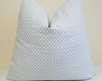 Sarah Richardson for Kravet Highpoint in Chambray Blue -Pillow Cover -Throw Pillow - Euro Sham - Lumbar Pillow