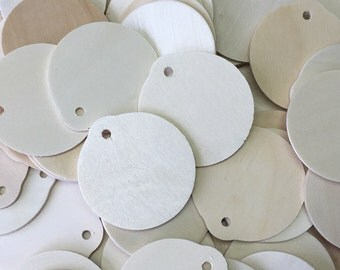 wood ornament circle cut out w hole shape 10 pcs