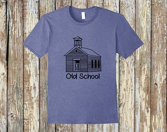 Old school shirt one room school house 1 cent shipping!