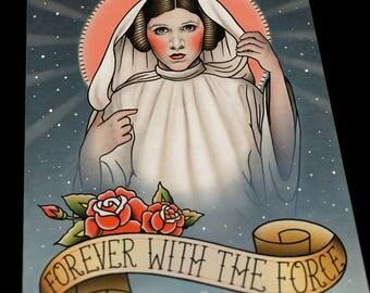 Princess Leia Memorial Flash Art Print