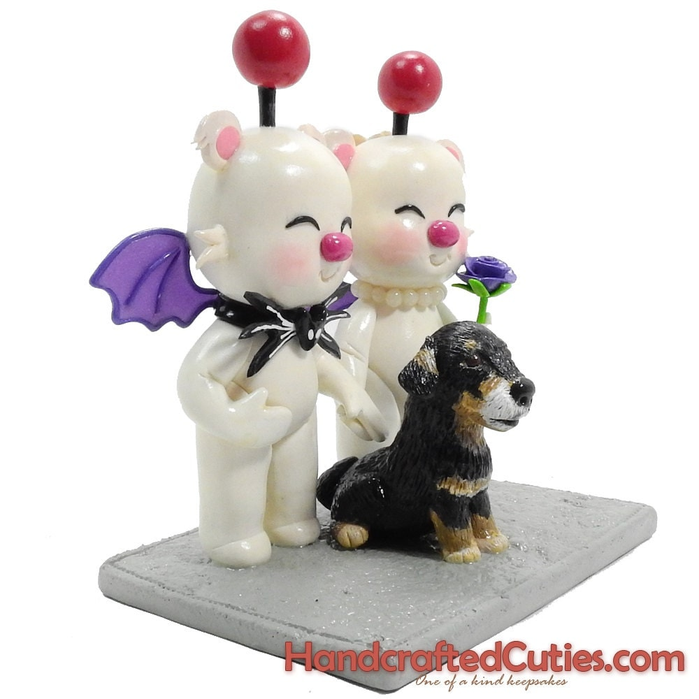final fantasy wedding cake toppers moogle wedding cake topper skellington bow tie purple 14247